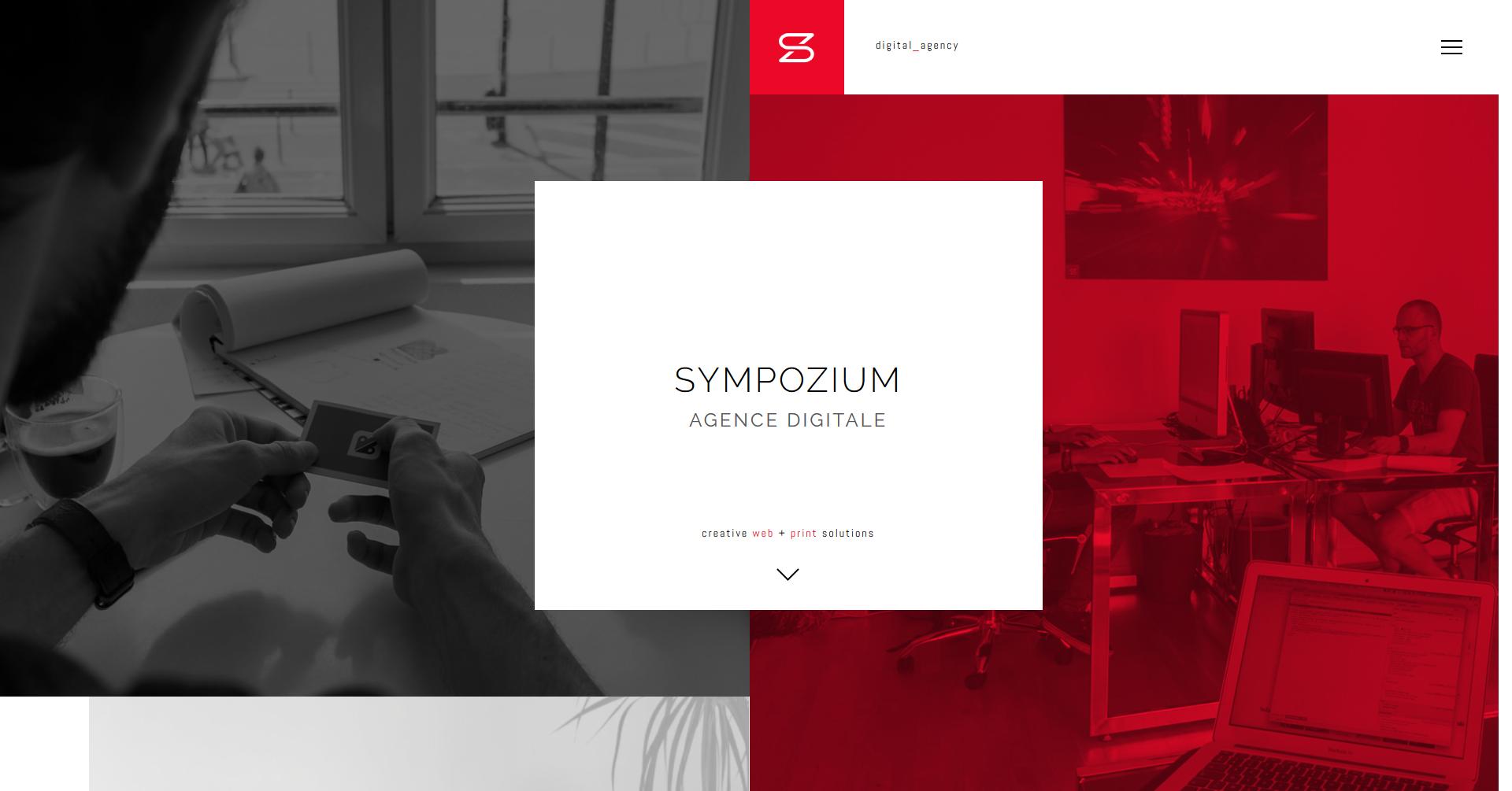 吉舌セレクト デュオトーンが鮮やかなサイト「sympozium」